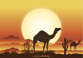 Desert Camel Scene Illustration