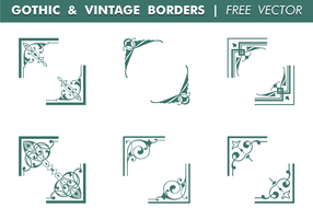 Gothic & Vintage Borders Free Vector