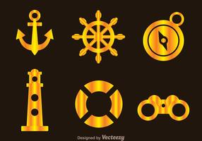 Nautical Gold Icons