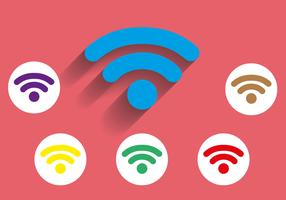 Free Wifi Icon Long Shadow Vector