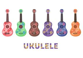 Ukulele Flower pattern