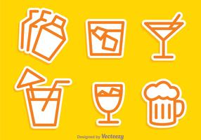 Cocktail Outline Icons