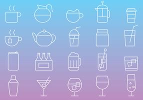 Beverages Line Icons