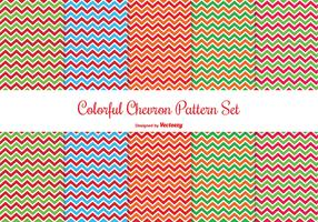 Colorful Chevron Pattern Set