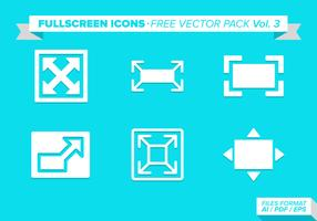 FullScreen Icons Free Vector Pack Vol 3