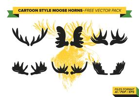 Cartoon Style Moose Horns Free Vector Pack