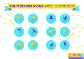 Thumbtacks Icons Free Vector Pack