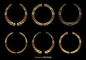 Golden wreaths