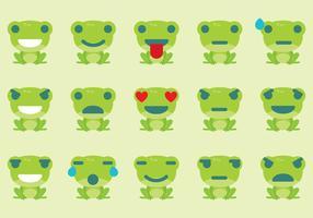 Frog Emoticon Vectors