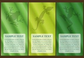 Frogs In Leaf Vectors Banners