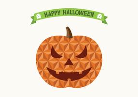 Flat Geometric Halloween Jack O' Lantern / Pumpkin