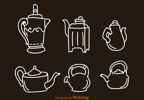 Arabic Coffee Pot And Kettle Icons