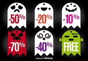 Halloween ghost tags
