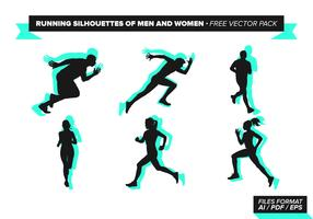 Running Silhouettes Of Men And Women Free Vector Pack