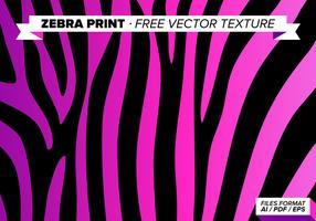 Zebra Print Free Vector Texture