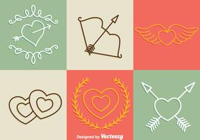 Valentine Days Line Icons