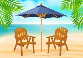 Free Adirondack Chair At Beach Vector