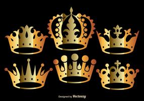 Golden Crown Vectors