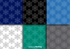 Snowflakes seamless patterns