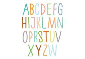 Colorful alphabet typography