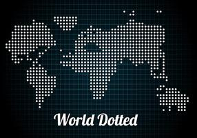 Free Dotted World Vector