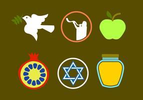 Rosh Hashanah Icon Vectors