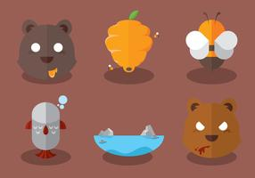 Wild Bear Vector Set