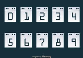 Number Counter Calendar Display