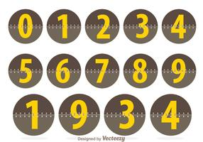 Circle Number Counters
