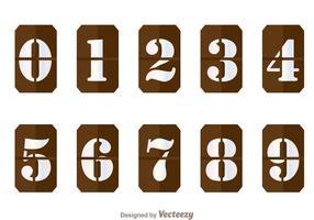 Brown Number Counter Vectors