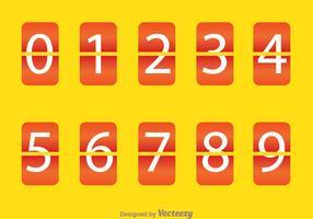 Orange Round Square Number Counter
