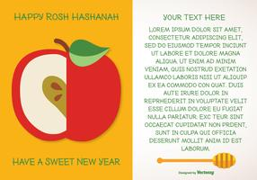 Rosh Hashanah Greeting Illustration