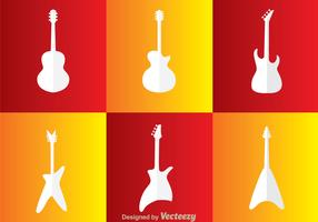 Guitar White Icons