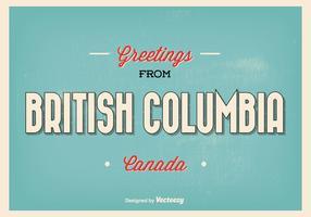 British Columbia Typographic Greeting Illustration