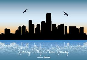 Jersey City Skyline Illustration