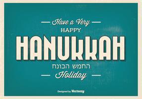 Happy Hanukkah Typographic Illustration