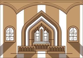 Free Church Altar Illustration