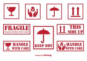 Handle With Care Labels and Icons