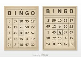 Free Retro Bingo Card Set Vector