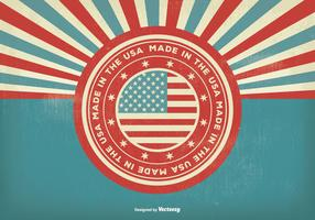 Vintage Style Made In the USA Illustration