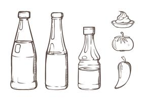 Bottle Sauce Illustrations