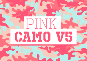 Pink Camo Vector Background Texture V5