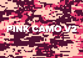 Pink Digital Camo Vector Background Texture V2