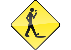 Smart Phone, Stupid Human Vector Sign