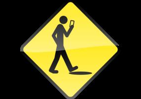 Smart Phone, Stupid Human Vector Sign
