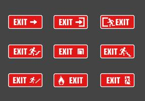 FREE EXIT SIGN VECTOR