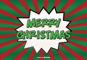 Comic Style Merry Christmas Illustration
