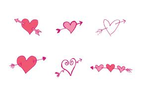 Free Arrow Through Heart Vector Series