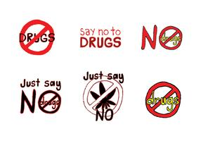 Free No Drugs Vector Series