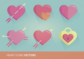 Heart Icons Vector Format
